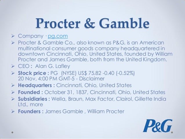 case study of p g marketing issues Procter & gamble rolls out an electronic document management system, including document management software and secure signature initiatives to accelerate r&d, meet regulatory compliance requirements and save money the challenge for proctor & gamble was to create a document and records.