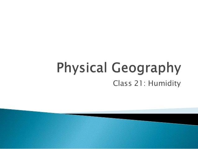 Class 21: Humidity
