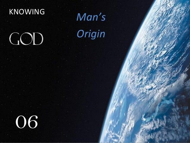06 Man's Origin