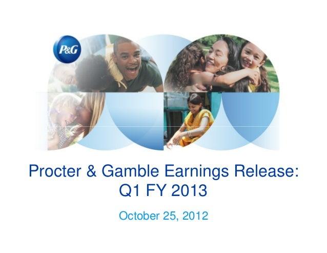 P&G 2013 Q1 Earnings Presentation