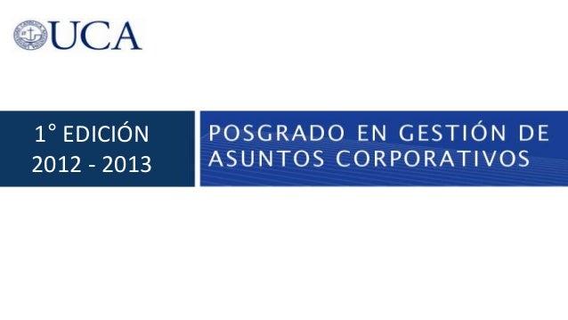 1° EDICIÓN2012 - 2013
