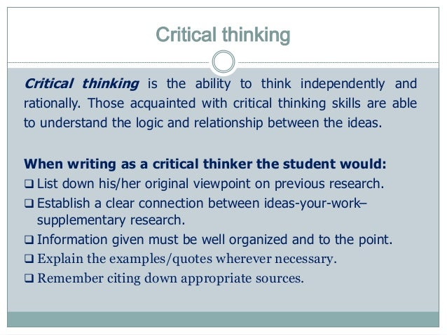 relationship between clear writing and critical thinking