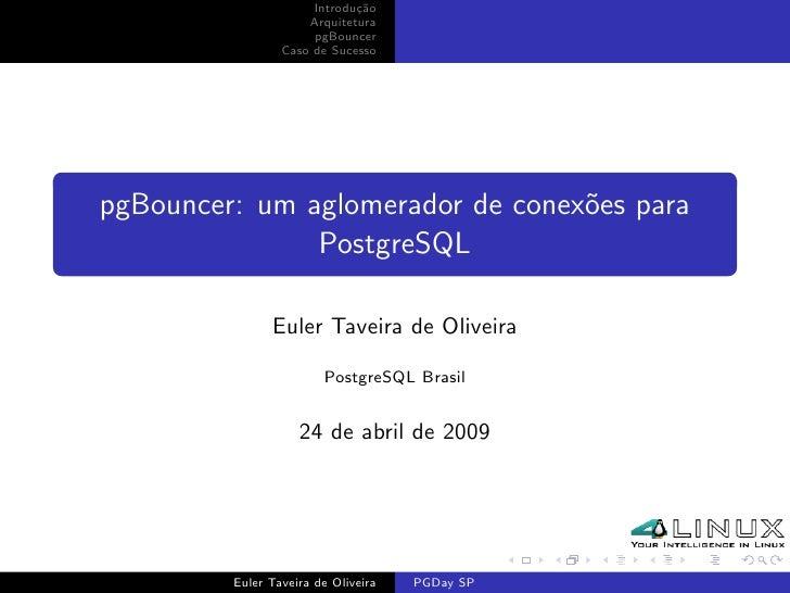 pgBouncer: um aglomerador de conexões para PostgreSQL