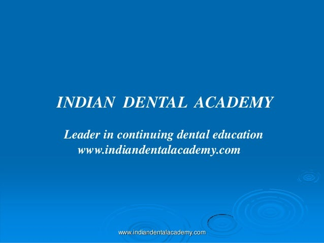 Pg canin retracton /certified fixed orthodontic courses by Indian dental academy