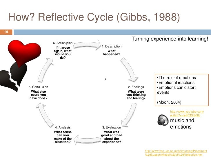 Example of reflective essay using gibbs model