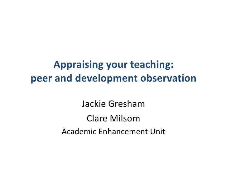 P gcert appraising your teaching 2011slideshare