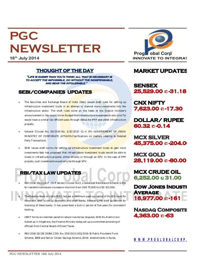 WORLD BUSINESS UPDATES 18th July 2014
