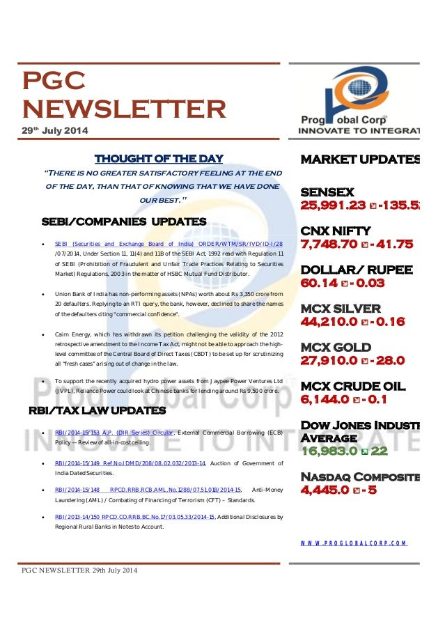Pgc newsletter 29 th july 2014 2