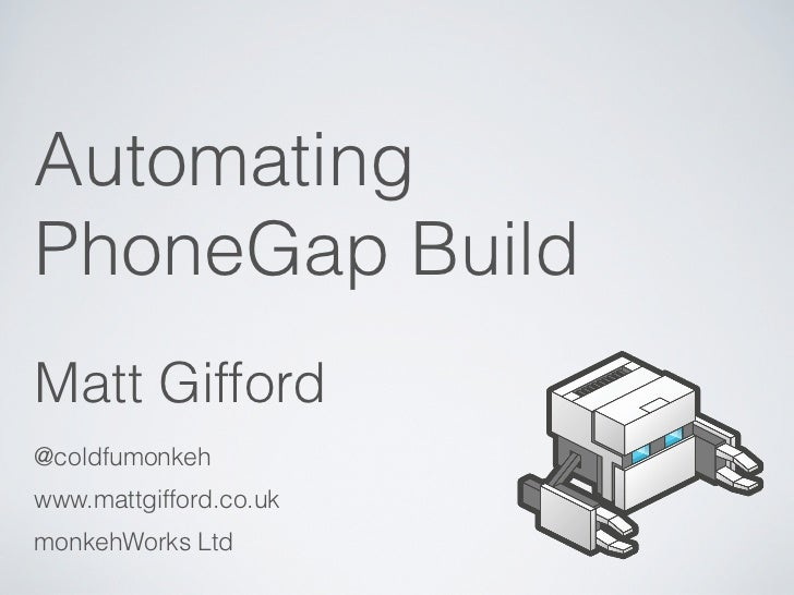 Automating PhoneGap Build