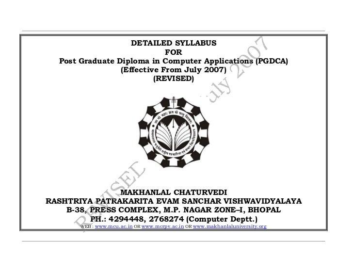 Pgdca final syllabus_2007_revised_31st_july_2007