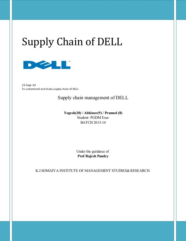 dells supply chain management practices case study