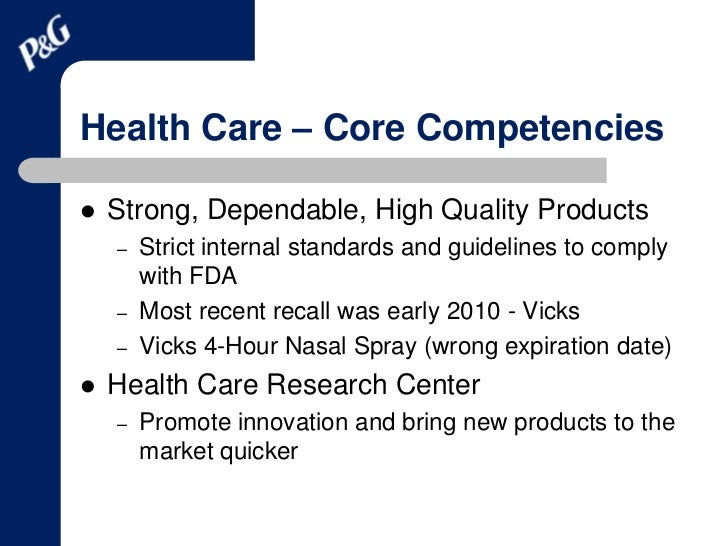 pfizer core competencies Pfizer may not be a great company now, but it may be a great company  of a  distraction to pfizer's core business and current competencies.