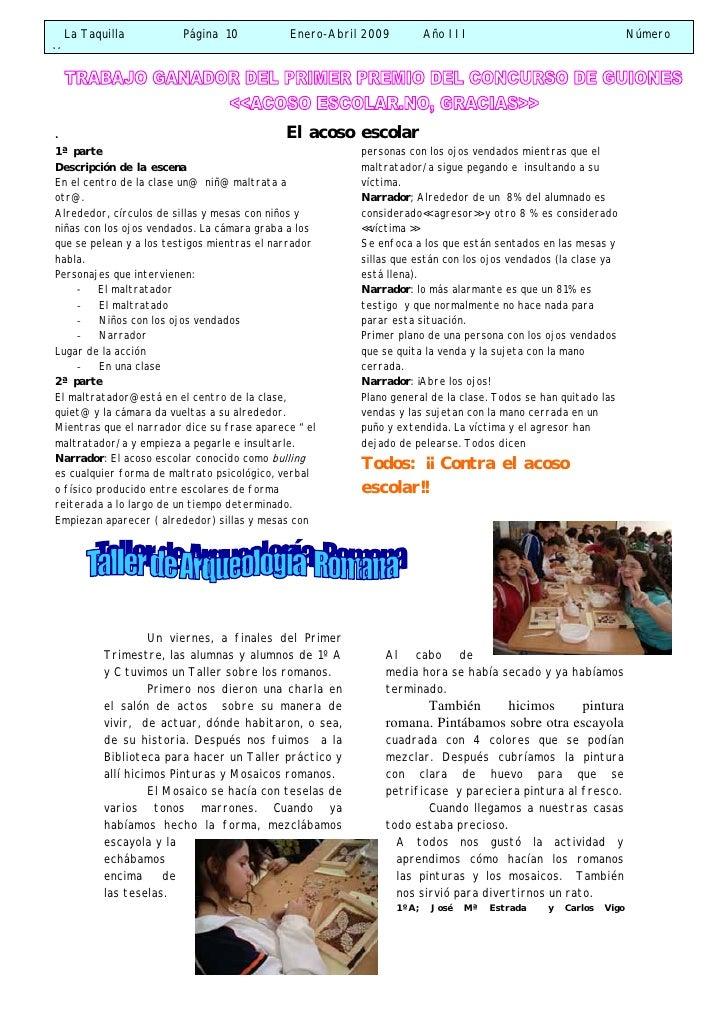 PáGina    10   Cont  Acoso  Taller Roma