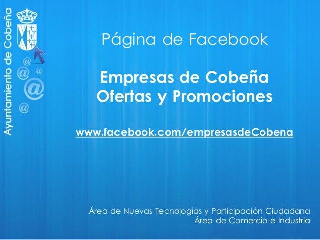 El Ayuntamiento de Cobeña promueve el uso de Facebook para dinamizar la actividad económica y comercial de la localidad