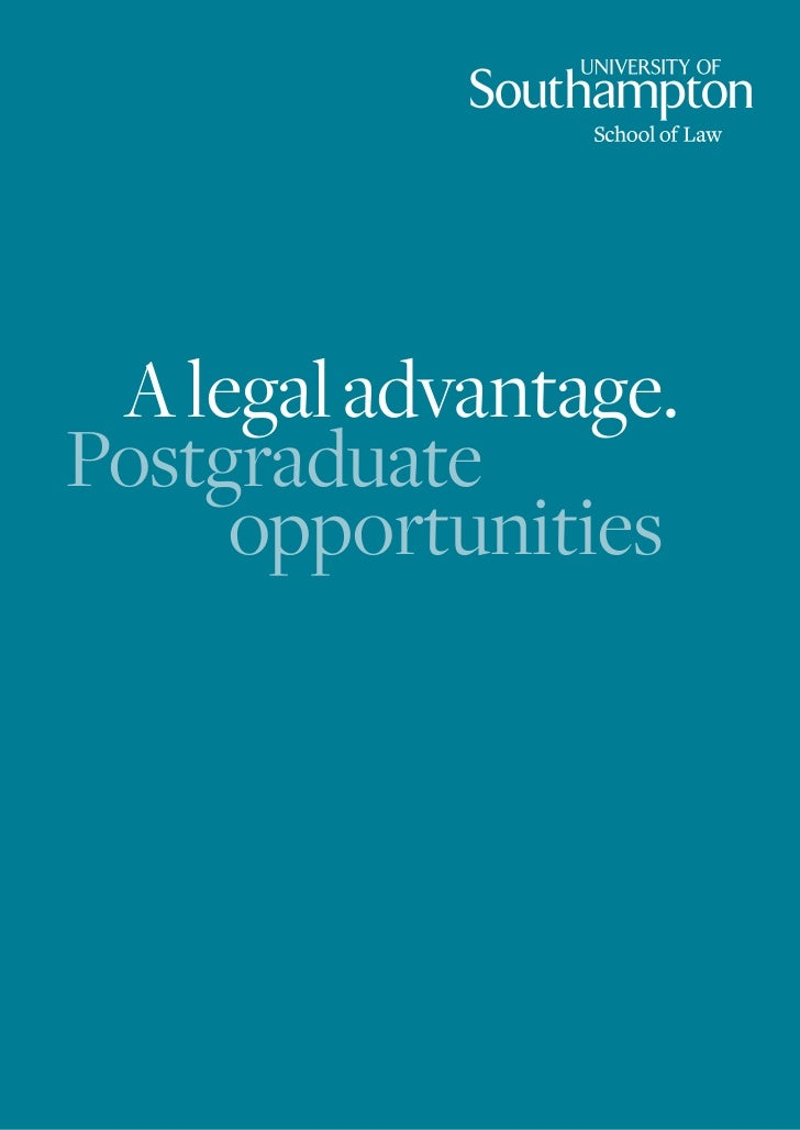 School of Law Postgraduate Brochure