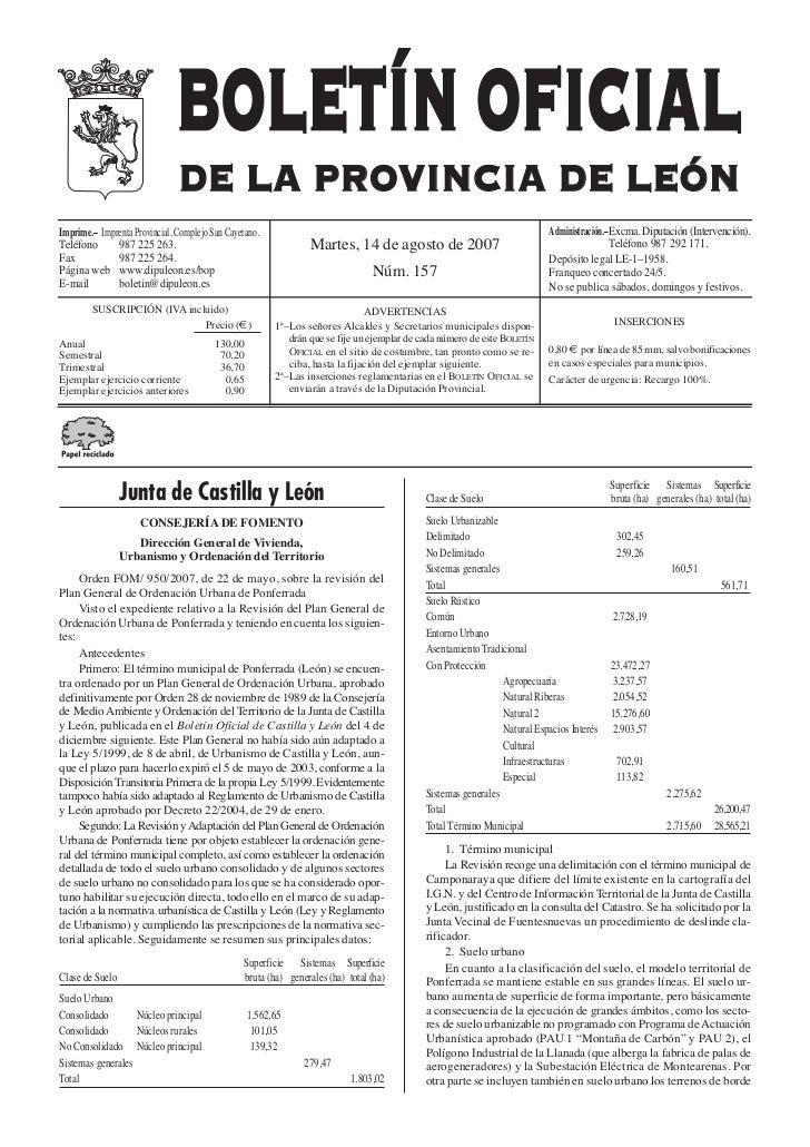 BOLETÍN OFICIAL                                DE LA PROVINCIA DE LEÓN                                                    ...