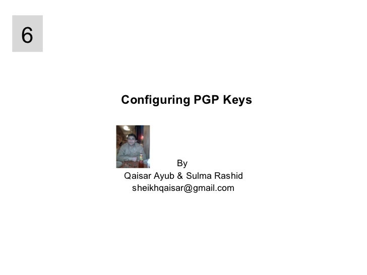 PGP keys Configuration