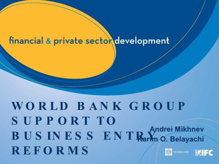 World Bank | International Finance Corporation (IFC) Presentation CRF 2009