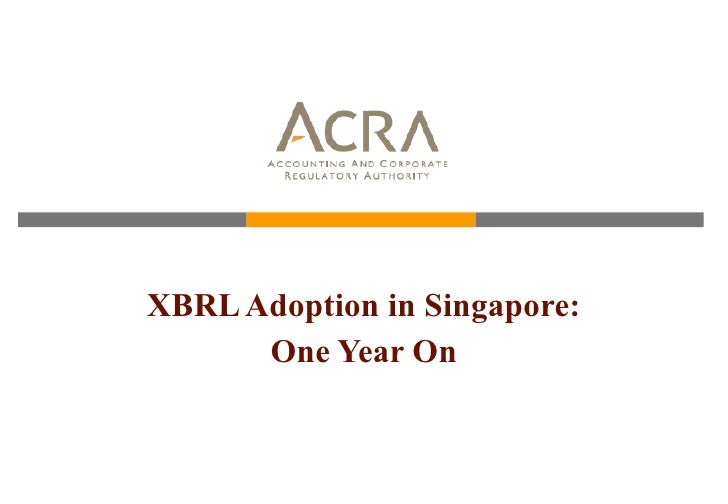 XBRL Adoption in Singapore: One Year On