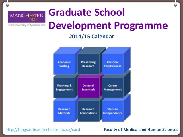 Graduate School Development Programme 2014/15 Calendar Faculty of Medical and Human Scienceshttp://blogs.mhs.manchester.ac...