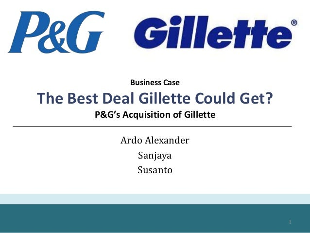 procter gambles acquisition of gillette Procter bc gamble chairman alan lafley had just orchestrated a $57 billion acquisition of gillette by p6cg the creation of the wo d's largest consumer products company would end kilts's four-year ten-' ore as ceo of gillette and bring to a close gillette's 104—year history as an independent corporate titan in the boston area.