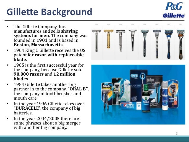 p gs acquisition of gillette The consent order permitted the procter & gamble company's acquisition of rival consumer products manufacturer the gillette company, provided the companies divest: 1) gillette's rembrandt.