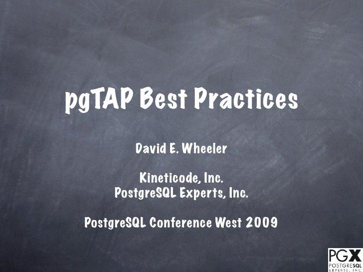 PgTAP Best Practices