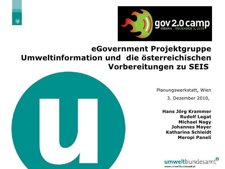 Umweltinformationen und die österreichischen Vorbereitungen zu SEIS