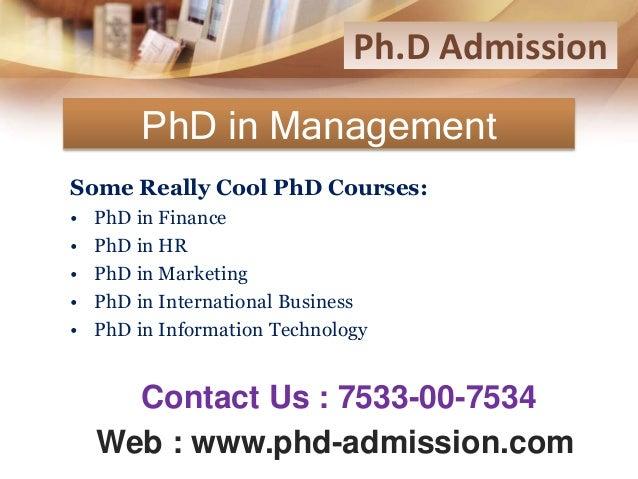Phd distance
