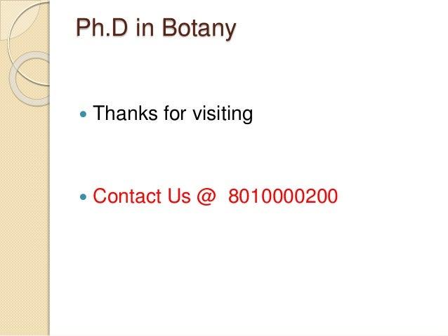 Botany phd thesis