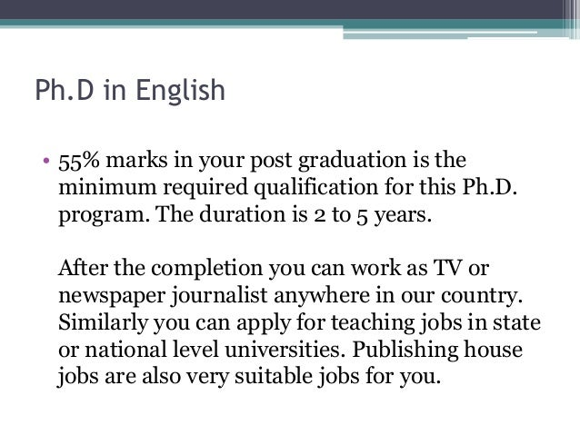 Ph.d in english