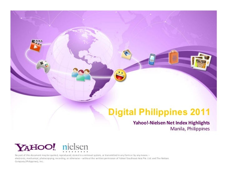 Digital Philippines 2011 Yahoo - Nielsen Net Index Highlights