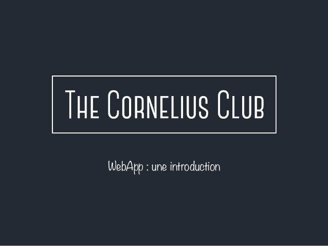 WebApp : une introduction