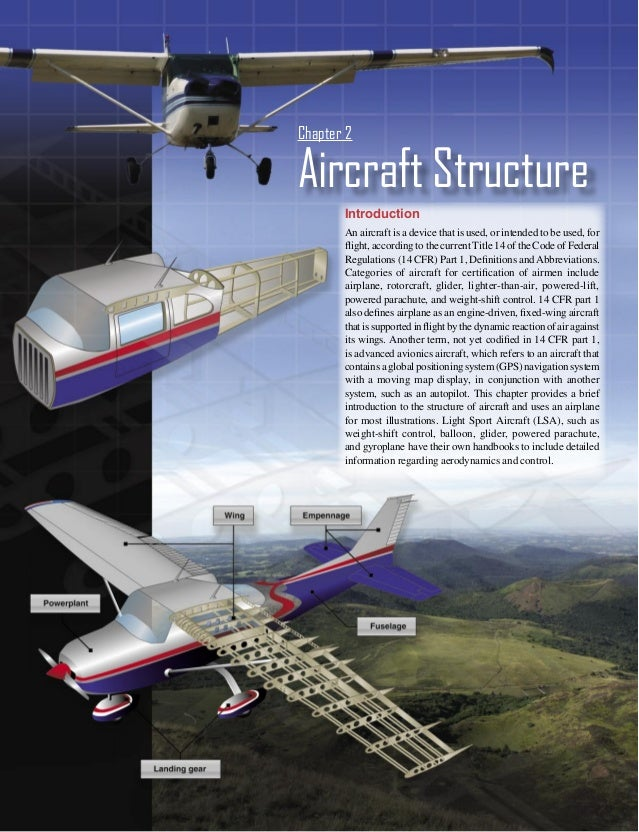 Chapter 2Aircraft Structure       Introduction       An aircraft is a device that is used, or intended to be used, for    ...