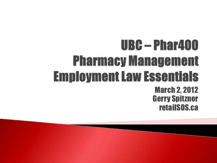 UBC Phar400-employment law-02mar2012