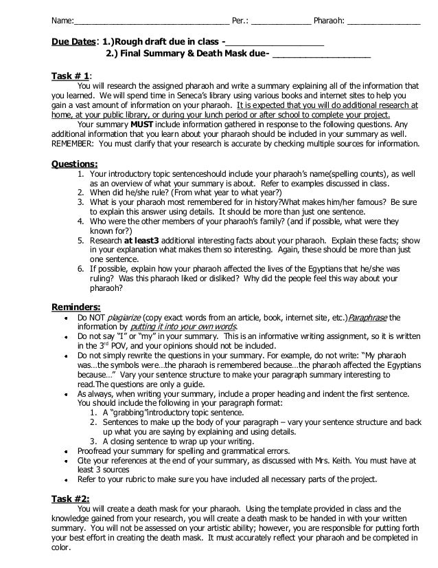 Rubric For Research Essay
