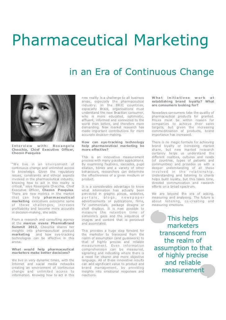 Pharmaceutical Marketing in an Era of Continuous Change - Rosangela Checchia, Checon Pesquisa