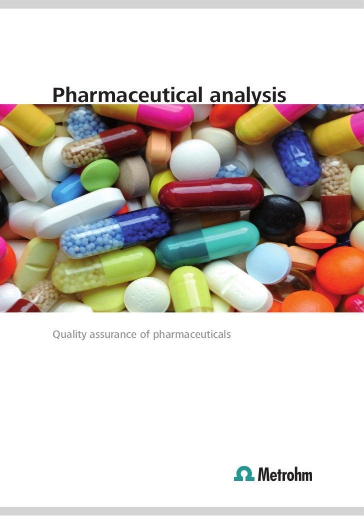 Pharmaceutical analysis From Metrohm