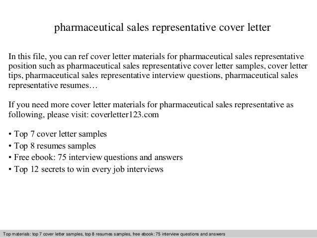 pharma resume cover letter