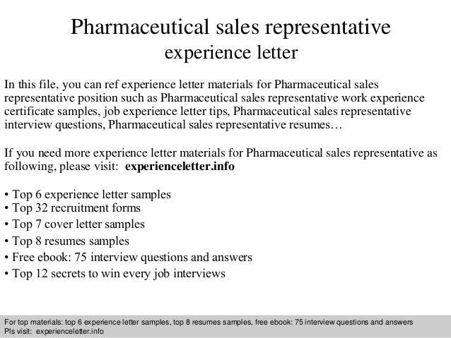 Cover Letter For Pharmaceutical Sales Job