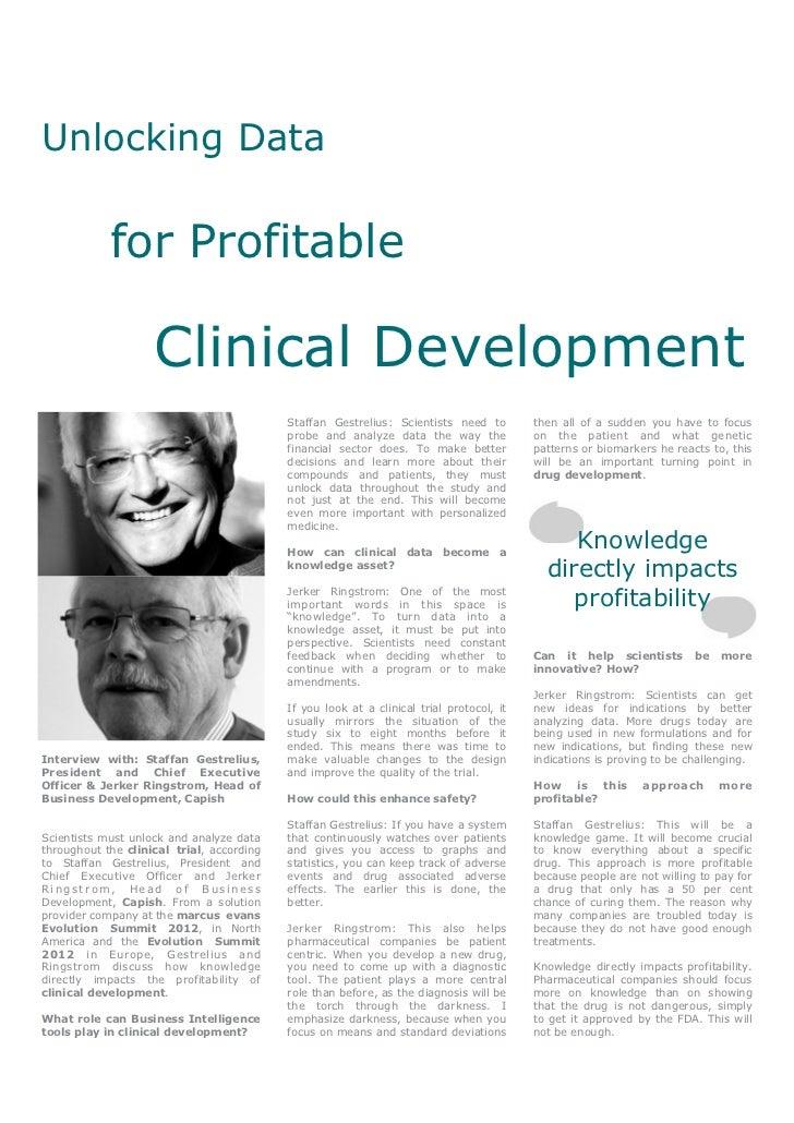 Unlocking Data for Profitable Clinical Development - Staffan Gestrelius & Jerker Ringstrom, Capish