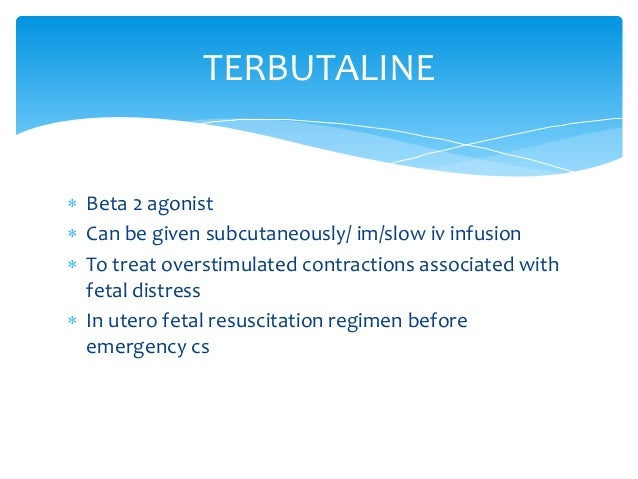 Terbutaline Side Effects On Baby