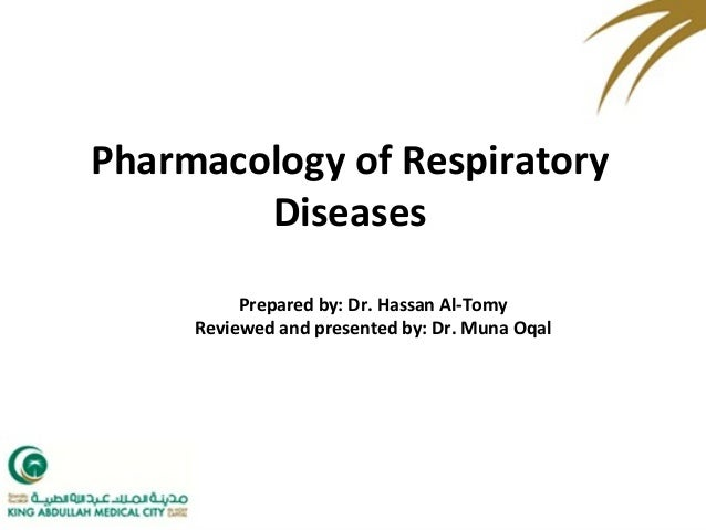Pharmacology of Respiratory Diseases Prepared by: Dr. Hassan Al-Tomy Reviewed and presented by: Dr. Muna Oqal