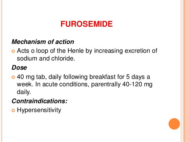 Furosemide Side Effects Ati