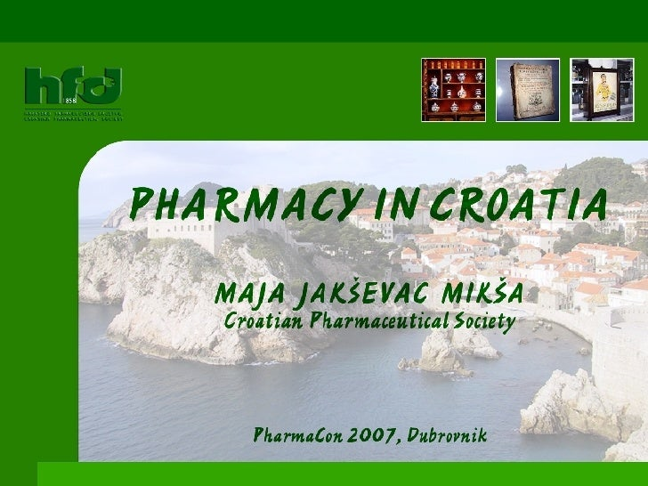 Pharmacy in croatia - A short overview