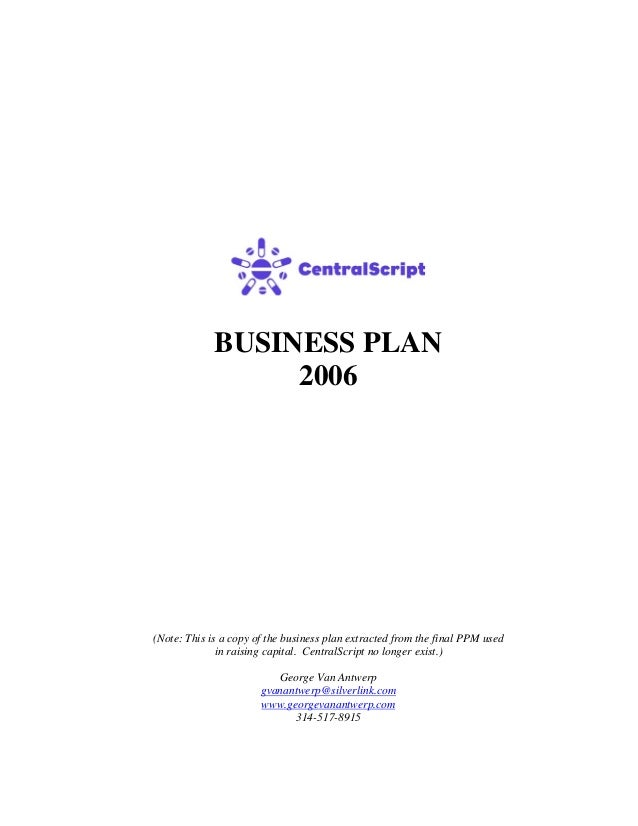 Business plan a ppm