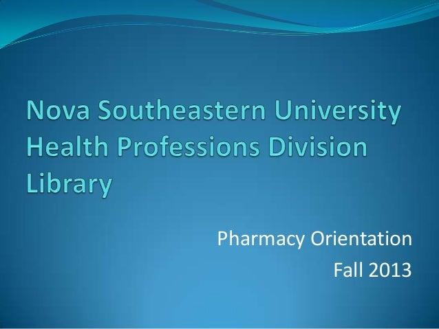 Pharmacy Orientation