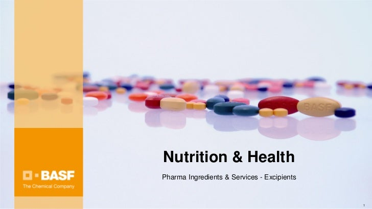 Nutrition & HealthPharma Ingredients & Services - Excipients                                             1