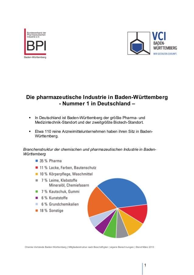 Die pharmazeutische Industrie in Baden-Württemberg - Nummer 1 in Deutschland –   In Deutschland ist Baden-Württemberg der...