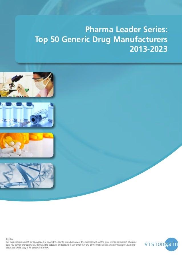 Pharma leader series top 25 biosimilar drug manufacturers 2013 2023